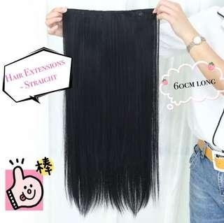 🚚 [Pre-order] Straight Hair Extensions with 6 clips, natural and secure | hair wig hair extensions hair piece