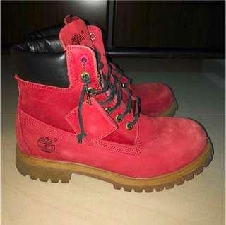 Red Timberland Boot
