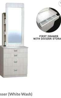 Dressing table with dividers INSTOCK