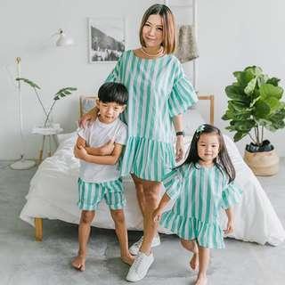 Brand New Stripes Wonderland Dress in Mint (Woman)