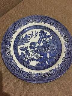 Blue Churchill plate