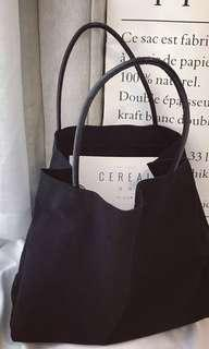 Plain Black Tote Bag (Cotton)