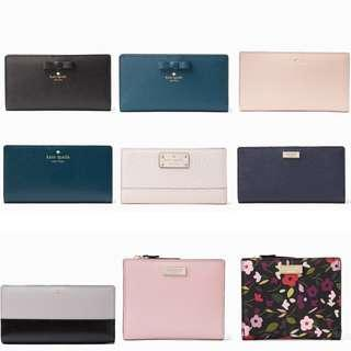 Time Sales! Authentic Kate Spade Leather Wallet & Wristlet