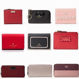 Authentic Kate Spade Leather Wallet & Wristlet