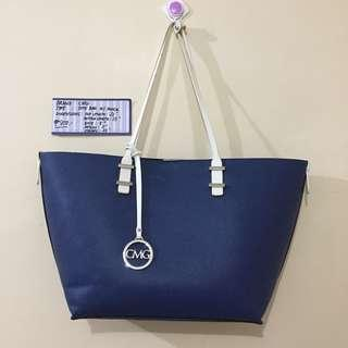 Authentic CMG Dark Blue Tote Bag with Pouch