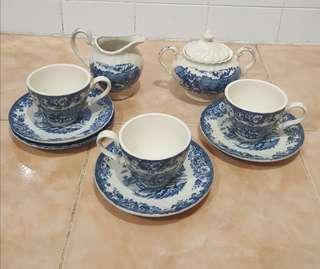antique hand painted homestead tea set
