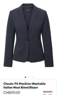 Banana Republic Classic-Fit Italian Wool Blend Blazer brand new NWT Size 10