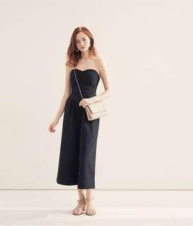 Air space胸前交叉鏤空挺版斷貨連身褲#九月女裝半價