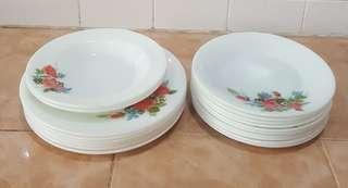 pyrex cottage rose plate 18pcs