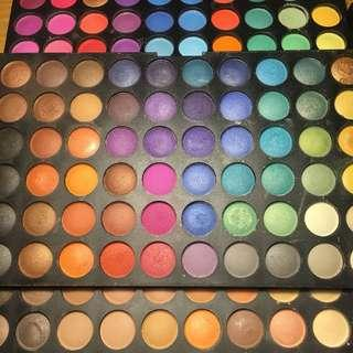 Colourful eyeshadow palette