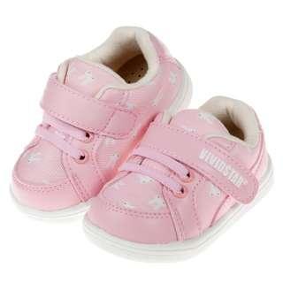 兔子粉紅色機能BB學行鞋