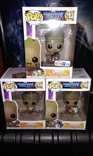 Groot Exclusives Marvel Funko Pop Bundle