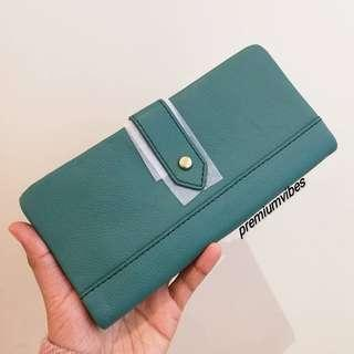💯 Fossil Lainie Clutch Teal Green
