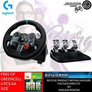 Logitech G29 Dual-motor Feedback Driving Force Racing Wheel with Responsive Pedals for PlayStation 4 and PlayStation 3