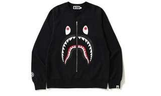 Bape Shark Crewneck Black