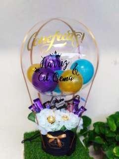 Hot air balloons chocolate