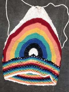 F21 Rainbow Crochet Top