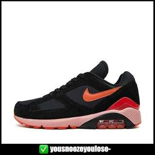finest selection 0eeee cb129  PREORDER  NIKE AIR MAX 180 FIRE   BLACK TEAM ORANGE