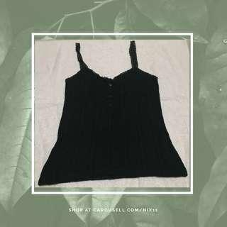 Dark Green Lace Sleeveless