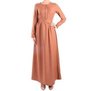 Poplook mireya front button maxi dress