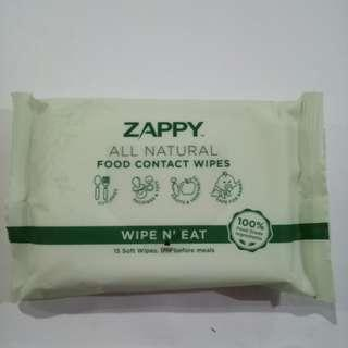 ZAPPY ALL NATURAL FOOD CONTACT WIPES