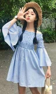 Cute Blue and white Stripes dress