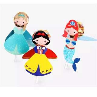 Princess party supplies - candy deco / lollipop deco/ party deco / party gift / candy bar deco