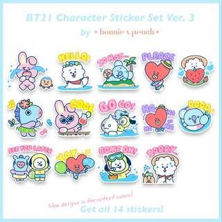 BT21 Character Sticker Set Ver. 3