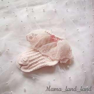 Lovely newborn baby cotton embroidered lace socks 🧦