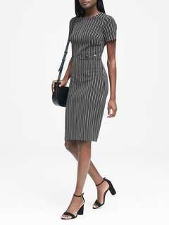 Banana Republic Side-Button Bi-Stretch Sheath Dress New NWOT Size 10 Petite