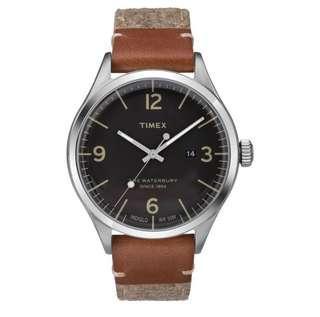 Timex Waterbury Leather and Tweed Strap