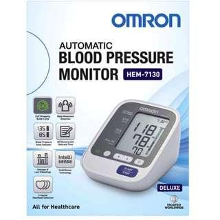 🚚 Brand New! - Automatic Omron BP Monitor - HEM 7130 - 60 Memories with Date and Time