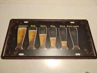 Metal Display vintage Classic Beer Sign. Brand new sealed.