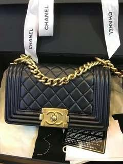 Chanel Boy Small Lambskin (Authentic)