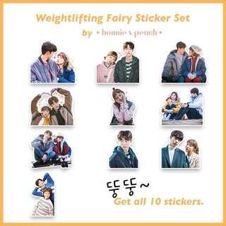 Weightlifting Fairy Sticker Set