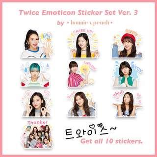 Twice Emoticon Sticker Set Ver. 3
