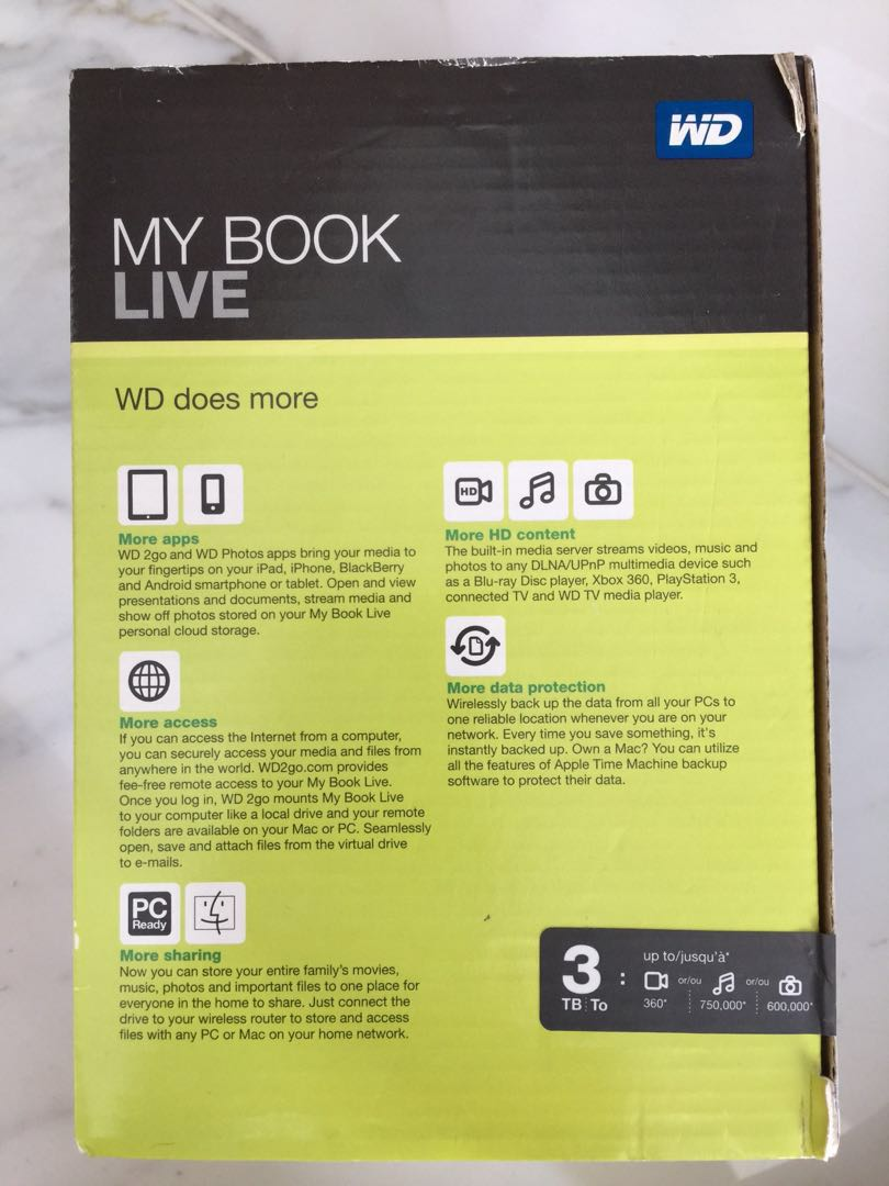 3 Tera Cloud storage MY BOOK LIVE