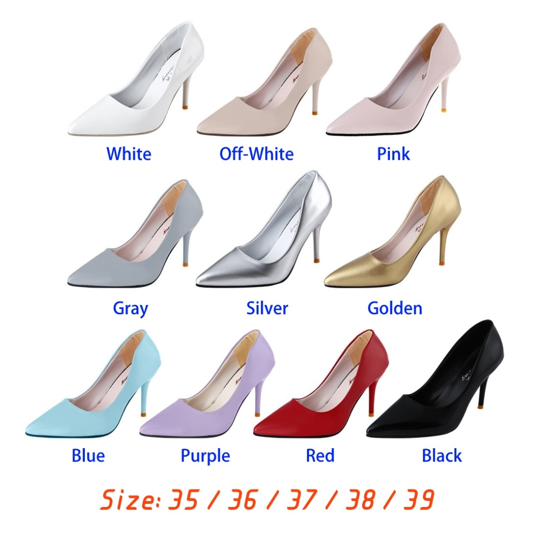 c4d667aa2b6 💯 AIC677501 Stylish Pointed Toe Ladies Thin High Heel Shoes ...