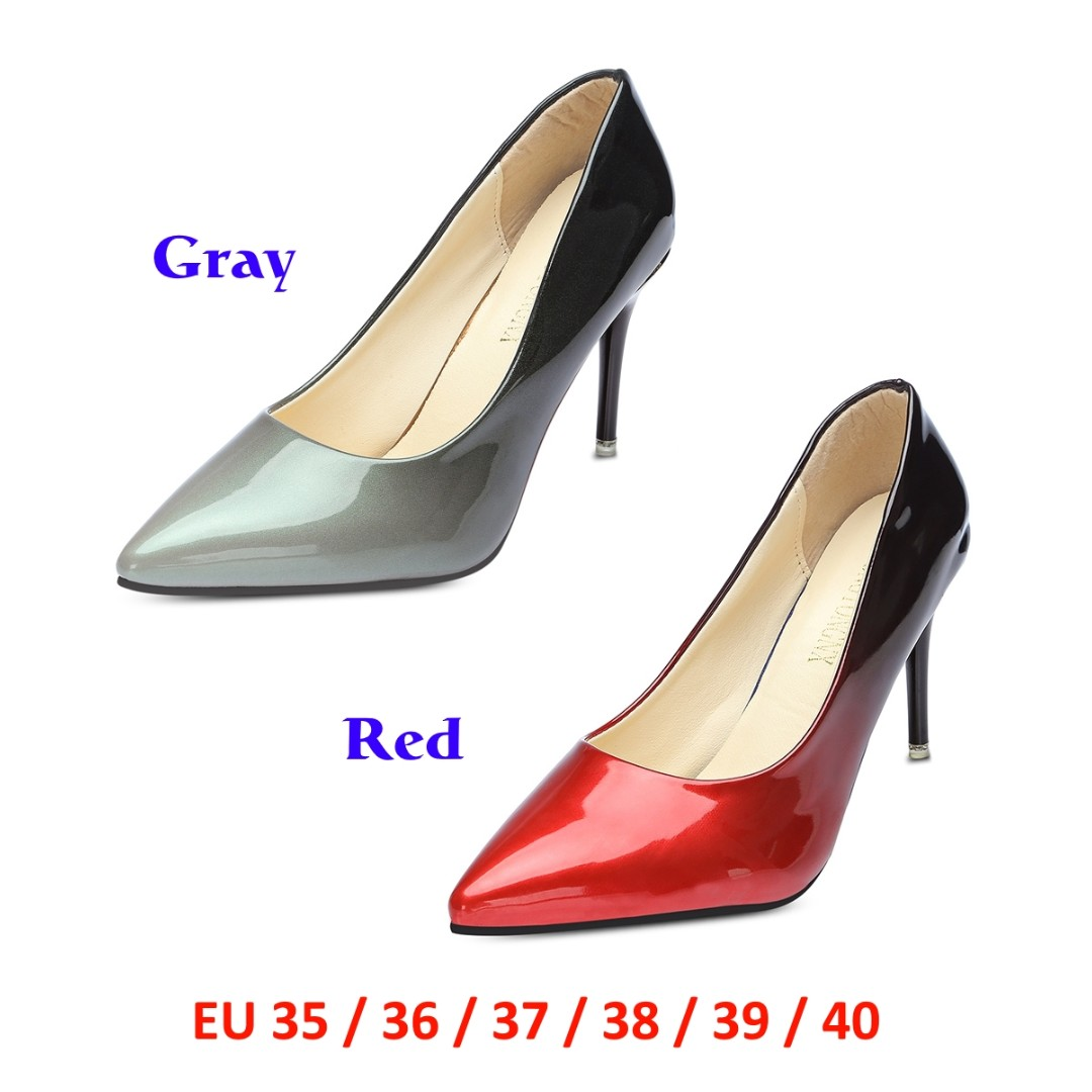 a51a51fe64c9 💯 Pointed Toe Stiletto Heel Slip-on Gradient Color Women Shoes ...