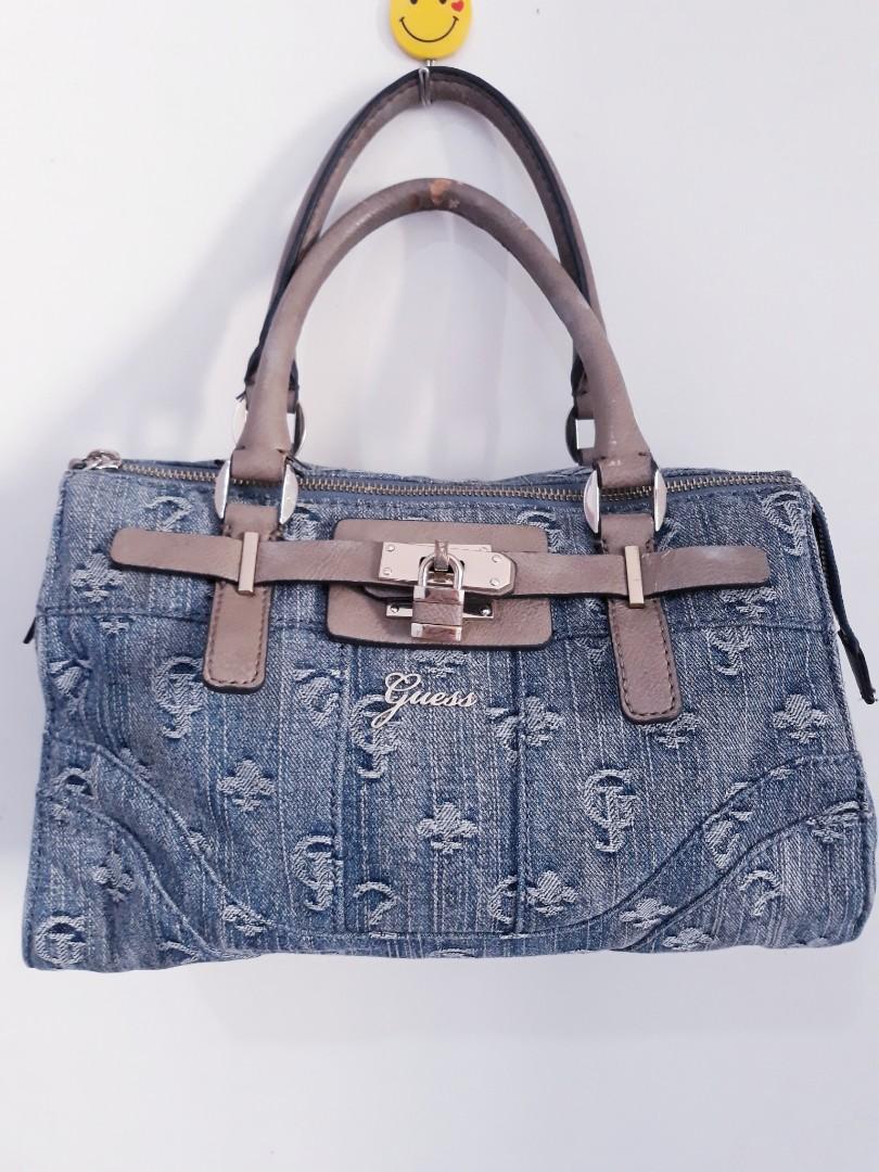 Authentic Guess Denim Handbag Women S Fashion Bags Wallets On Carou