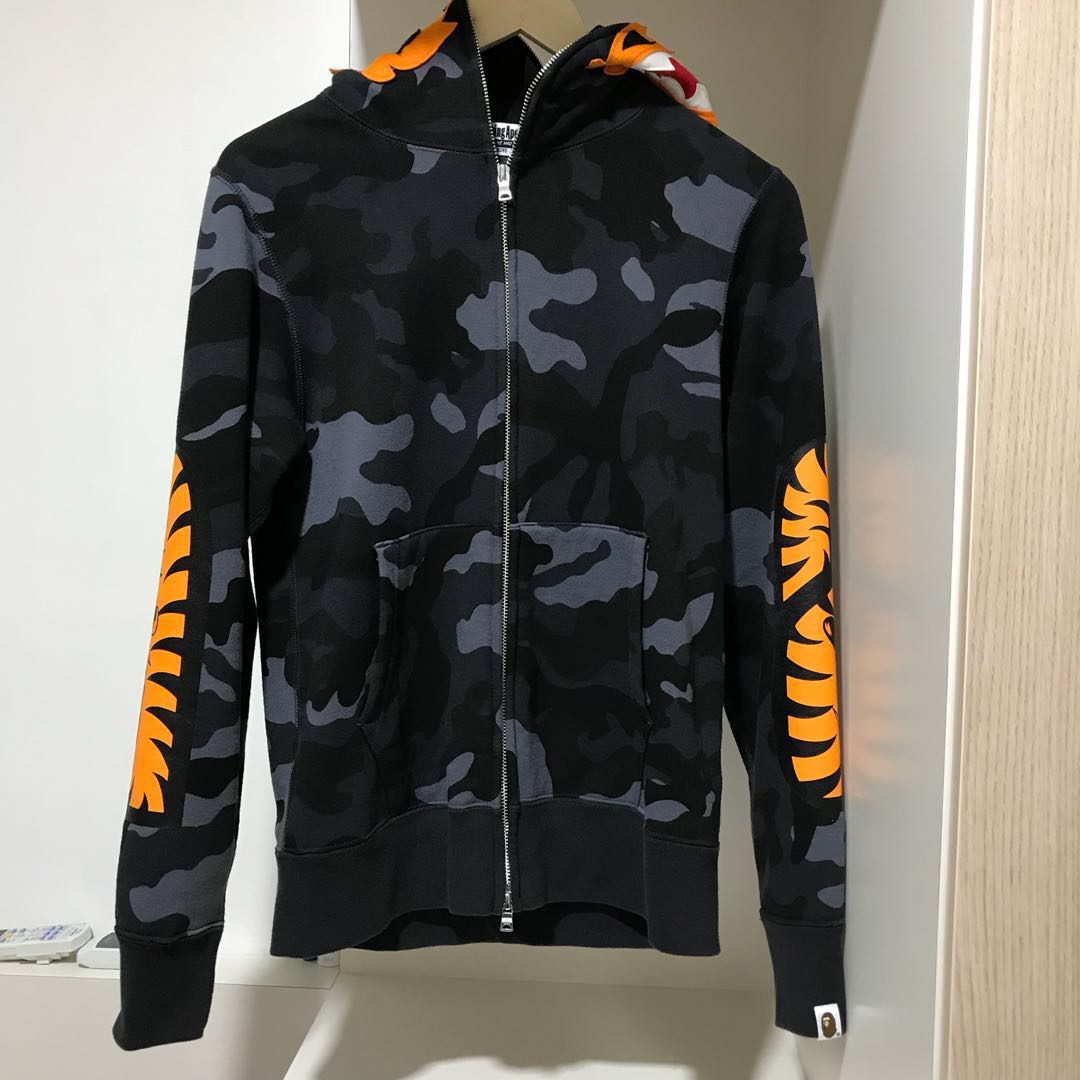 758a4c32 Bape Camo Tiger Full Zip Hoodie, Men's Fashion, Clothes, Outerwear ...