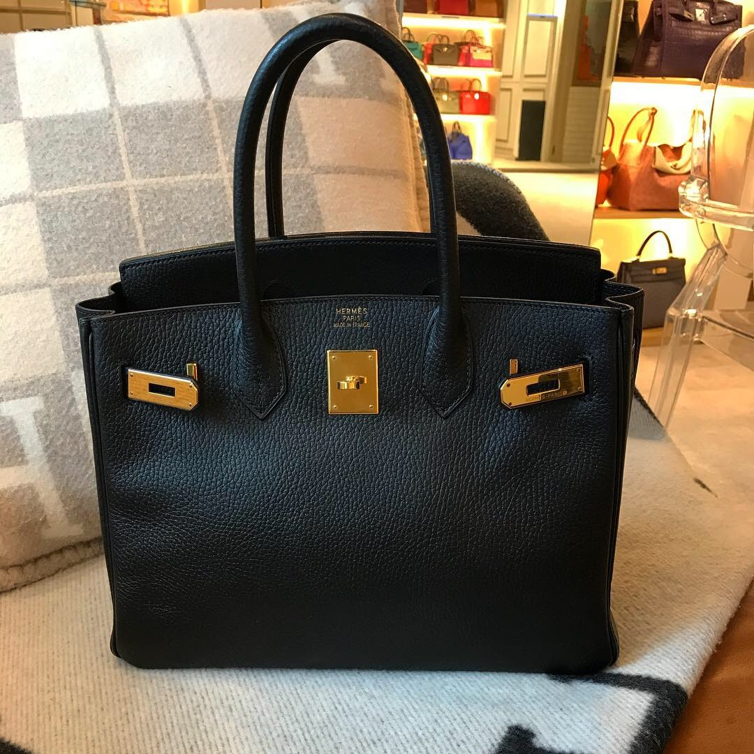 6b88584612e8 Birkin 30 Black Ardennes Leather and Gold Hardware