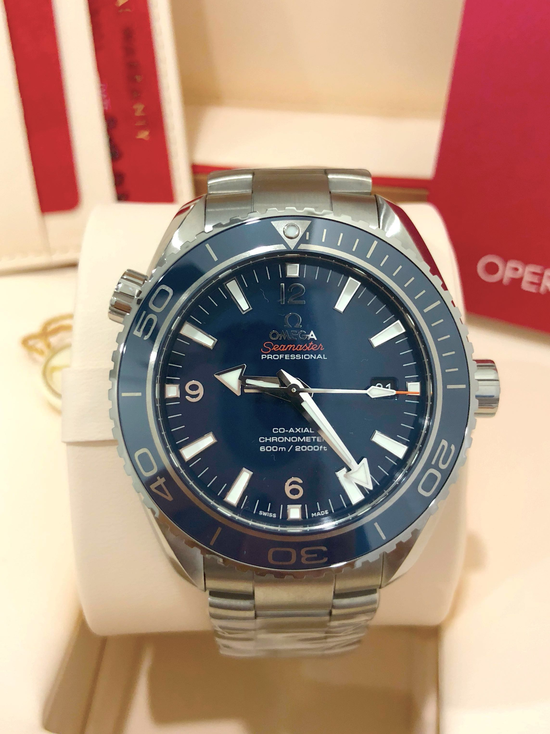 27f3f070e6efa BNIB OMEGA SEAMASTER PLANET OCEAN 600M CO-AXIAL 45.5 MM 232.90.46.21 ...