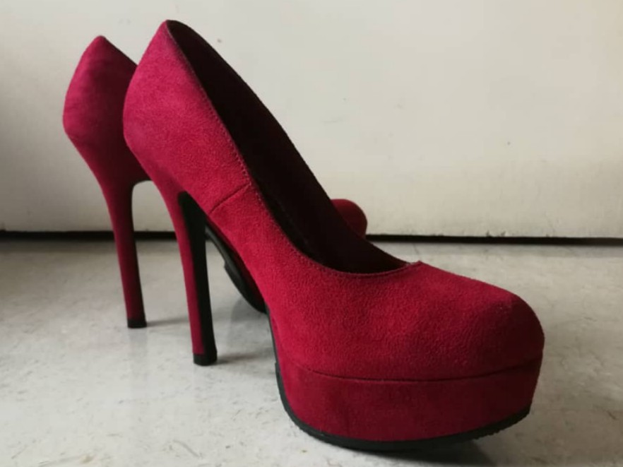 c3ade273003 BRASH Red Kosmic platform stilettos/high heels; US 8, Women's ...