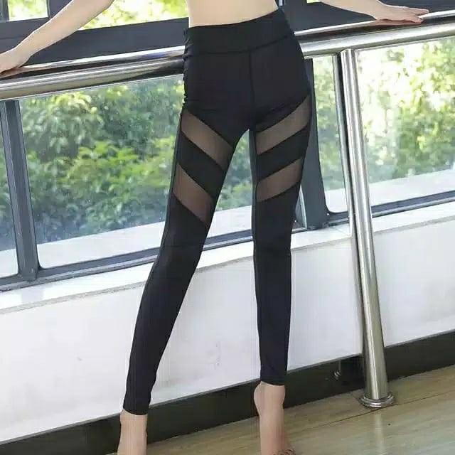 Celana Legging Mesh Women S Fashion Women S Clothes Bottoms On Carousell