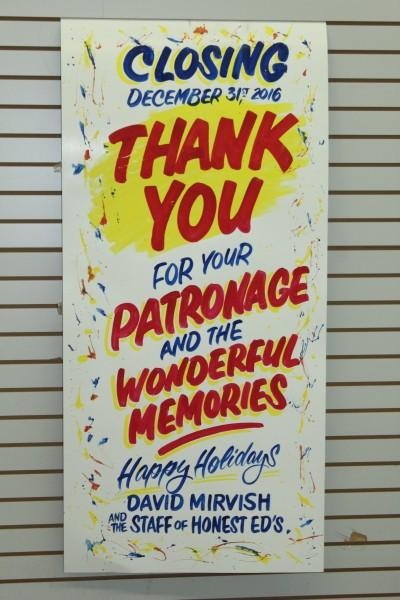 Closing December 31st, 2016 Thank You For Your Patronage And Wonderful Memories