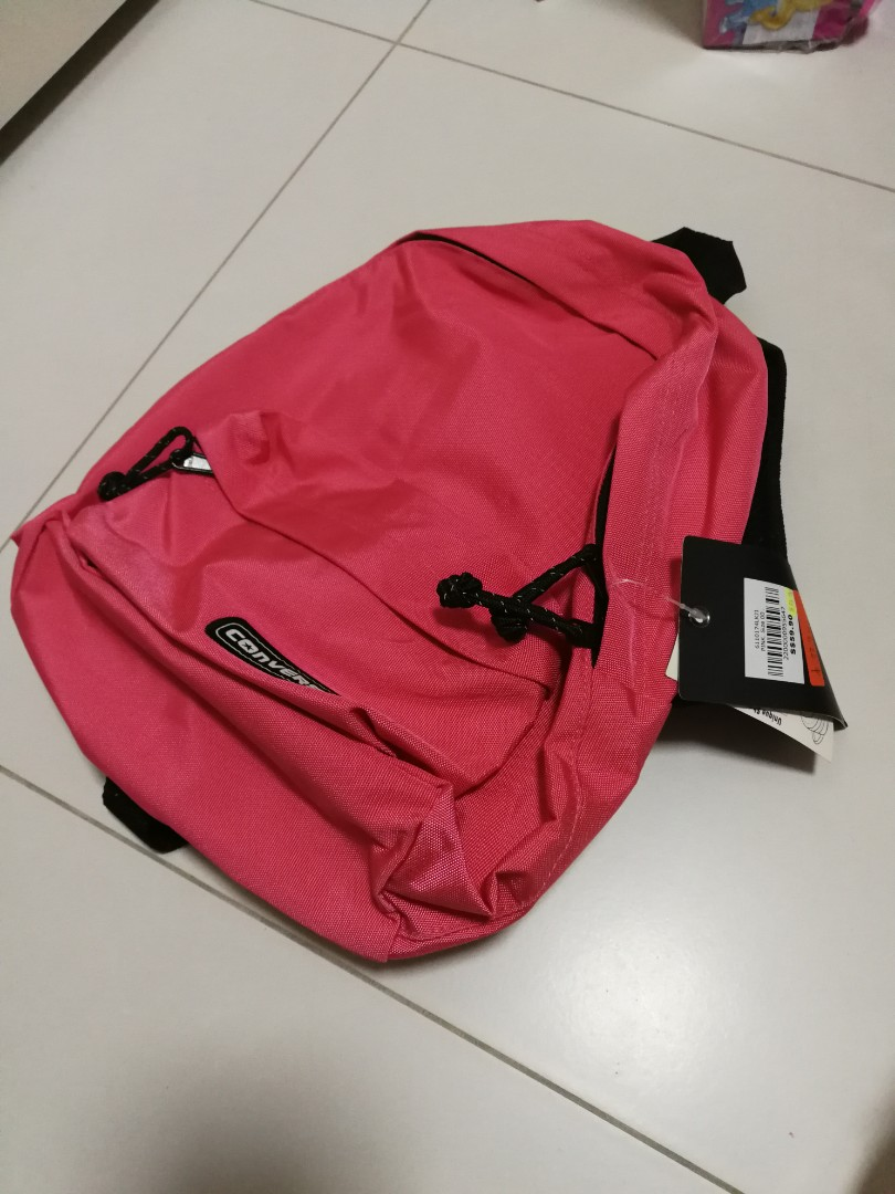 0d81e0a80af Converse pink backpack small, Women's Fashion, Bags & Wallets ...