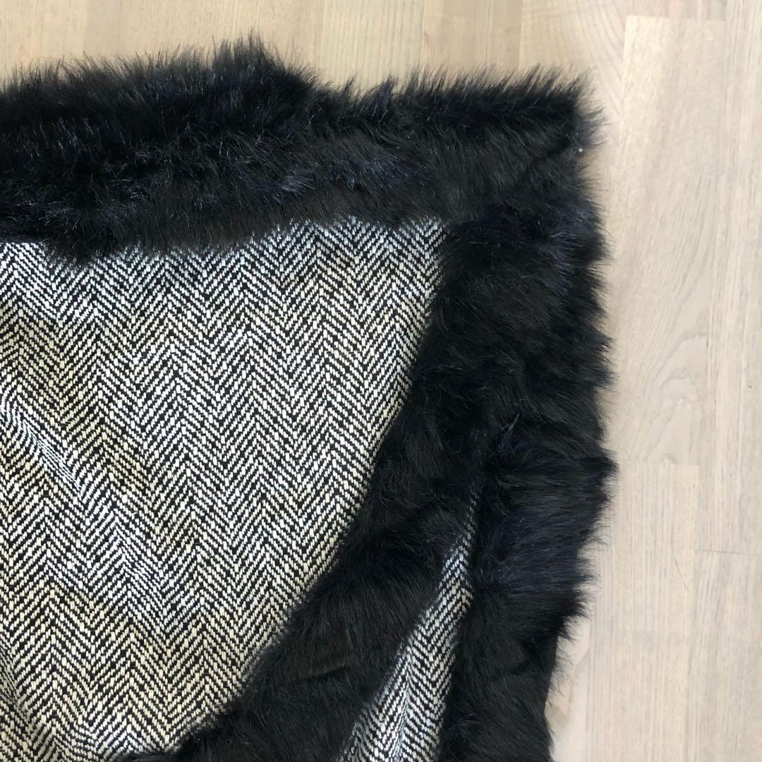 Faux Fur Cape Vest (one size fits all)