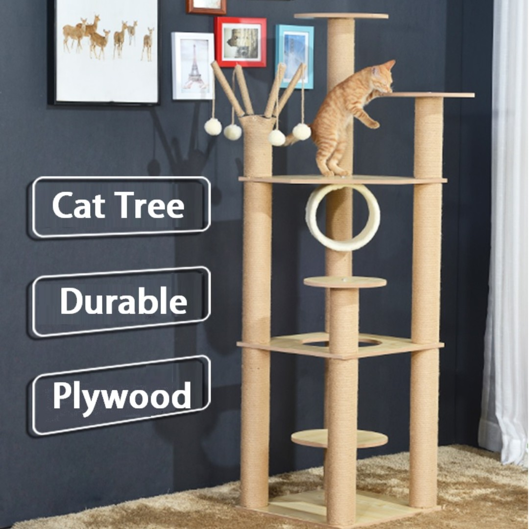 Flash Deal Modern Cat Furniture Plywood Cat Trees Towers