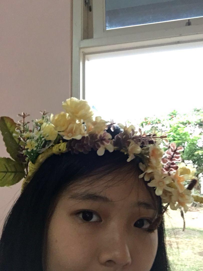 Flower crown homemade